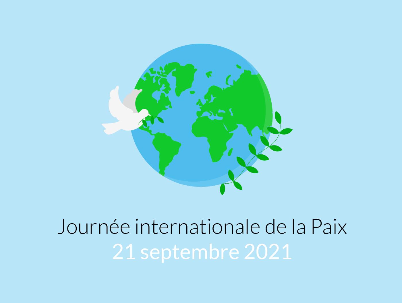Photo de la dernière actualité - Aujourd'hui, c'est la Journée internationale de la Paix 🕊️