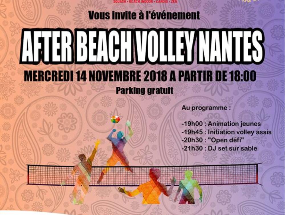 Sponsoring soirée after beach volley