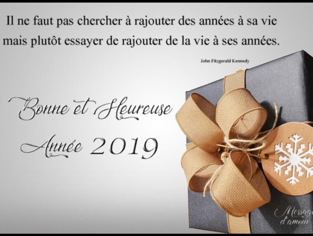 Merveilleuse Année 2019 !