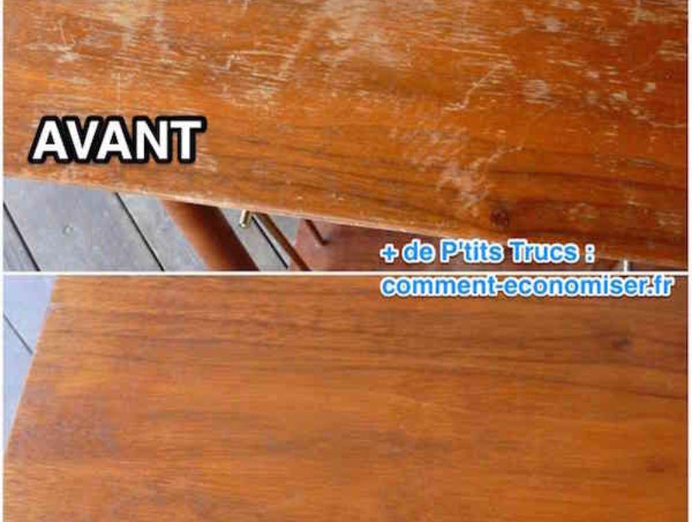 Astuce pour faire disparaitre les rayures sur un meuble en bois